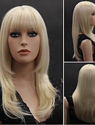 The European and American Fashion Bleach Blonde Hair Wig