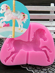 A Carousel Fondant Cake Chocolate Silicone Mold, Decoration Tools Bakeware