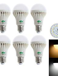 5W E26/E27 LED Kugelbirnen G60 18 SMD 3528 480-500 lm Warmes Weiß / Kühles Weiß Dekorativ AC 85-265 V 6 Stück