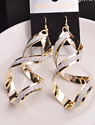 Top Quality European Style Double Spiral Drop Earrings for Wedding Party