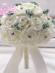 Bride Holding Flowers Wedding Bouquet