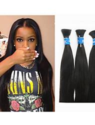 """3pcs / lot 14 """"-34"""" cheveu humain pour tresser les cheveux en vrac sans l'attachement de 300g brésilienne vierge en vrac de cheveux de"""