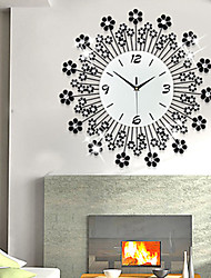 Luxury Diamond Iron Mute Wall Clock