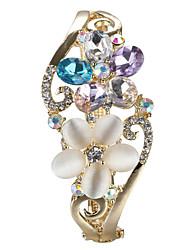 Sjeweler Lady's Corlorful Crystal  Flower Bracelet Bangle