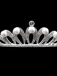 Mulheres Strass / Liga / Imitação de Pérola Capacete-Casamento Tiaras 1 Peça