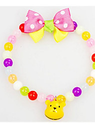 Kawaii Jelly Rainbow Pet Dog Necklace Pet Collar Bells Dog Necklace Pendant In Chinese