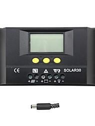 20a solar30 y-solar controlador de carga solar pantalla lcd 12v 24v certificación ce s30