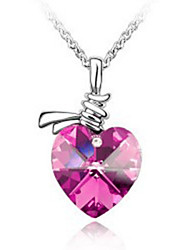 The fine necklace Austrian crystal colorful hearts necklace jewelry imports