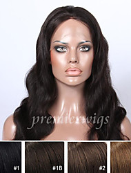 14''-20'' Body Wave Remy Virgin Brazilian Human Hair Wigs Silk Top Lace Front Wigs With Baby Hair For Black Women
