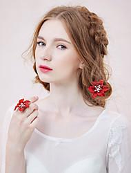 Women's Rhinestone/Alloy/Fabric Headpiece - Wedding/Casual/Outdoor Barrette 1 Piece