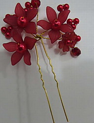Fashion Women Alloy/Imitation Pearl/Acrylic Hairpins With Imitation Pearl Wedding/Party Headpiece