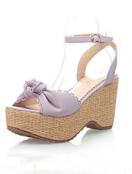 Women's Shoes Wedge Heel Wedges/Platform Sandals Casual Black/Purple/Red