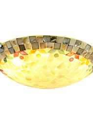 BOXOMIYA® Mediterranean Color Mosaic Shell Lamp 40 Cm In The European Bedroom Ceiling