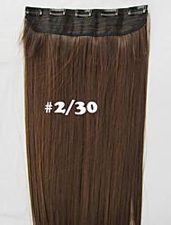 24 '' 120 g de fibres perruques synthétiques cheveux raides pièce N ° 2/30