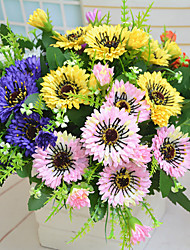 High Quality Artificial Flowers for Home Decoration Bright Color Chrysanthemum Silk Flower for Wedding Bouquet