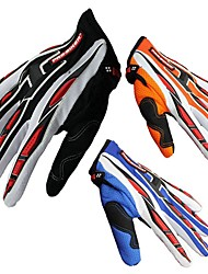 Мотоцикл перчатки Полныйпалец Нейлон/Лайкра M/L/XL Красный/Черный/Синий/Оранжевый