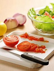 2 em 1 antiderrapante cozinha anti-transbordamento tábua de corte de legumes frutas (cor aleatória)