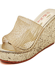 Women's Shoes Synthetic Wedge Heel Platform Sandals Casual Silver/Gold