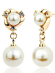 Rich Long Women's All Matching Elegant Mad Made Pearl Earring