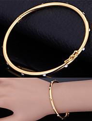 U7® Elegent Cuff Bracelets Austrian SWA Rhinestone 18K Gold Plated Bangles Jewelry Gift For Women