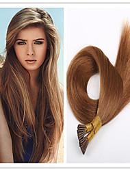 Economici estensioni 3pcs / lot 1g / s 100g / pc diritta brasiliana dei capelli umani vergini cheratina per capelli capovolgo le