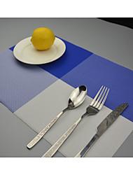 """2pcs estilo europeu de alta qualidade placemats coasters pvc jantar tabela (12 """"x18"""")"""