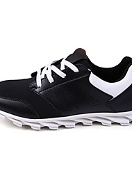 Men's Running/Hiking Shoes Faux Suede Black/White