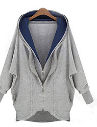 Women's White/Gray Jackets , Casual Long Sleeve Layered
