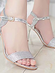 Women's Shoes Gold/Silver Stiletto Heel Sandals (Rubber)