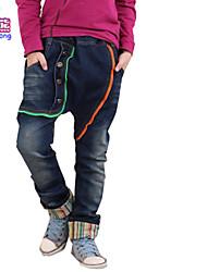 Waboats Kids Boys Geometric Zippers 3-7 Years Fashion Jeans