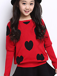 Girls Korean Version Of A Solid Color Knit Shirt