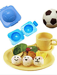 Plastic Football Shape Sushi Rice Roll Mould Cutter Egg Onigiri Cutter DIY