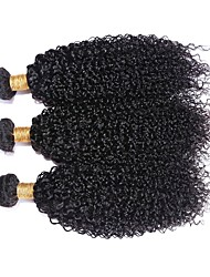 "3Pcs/Lot Brazilian Virgin Hair 100% Brazilian Remy Hair Kinky Wave 8""-30""Human Hair Extensions Natural Color"