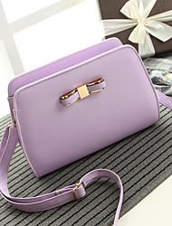Women 's PU Baguette Shoulder Bag - White/Purple/Blue/Black