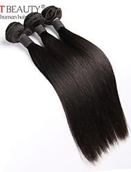"""3pcs / lot 8 """"-30"""" recta armadura del pelo remy virginal del pelo del pelo humano sin procesar malasia negro natural"""