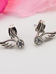 A Woman's Wings Stainless Steel Earrings