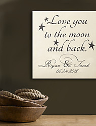 E-HOME® Personalized Signature Canvas Frame-LOVE YOU