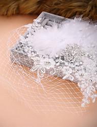 Femme Acrylique Casque-Mariage Occasion spéciale Fleurs Voile de cage à oiseaux 1 Pièce