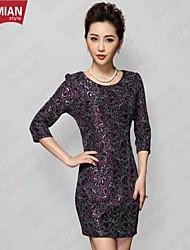 YUEMIAN™Women's Embroidery Mother Dress Code Temperament Slim Package Hip Dress