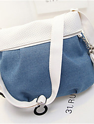 Women PU Outdoor Shoulder Bag Blue