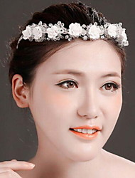 Fashion Women Lace/Resin/Copper Line Handwork Headbands With Crystal Wedding/Party Headpiece