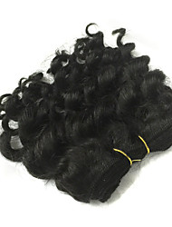 1 Pcs Lot 5 Inch Brazilian Virgin Hair #1B Deep Wave Human Hair Weave  Curly Hair Products
