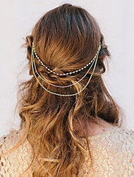 Women Alloy Matching Tassel Head Chain With Casual Headpiece