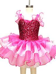 Children Dance Dancewear Two-Tones Children Girls Ballet Dance Dresses