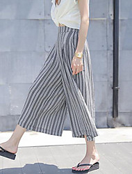 Women's Casual Inelastic Thin Loose Pants (Chiffon)