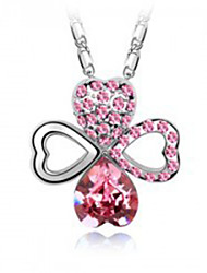 Accessories wholesale Austrian import crystal necklace Female fashion pendant