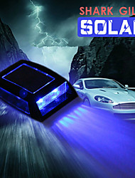 Car Shark Gills Solar Car Top Solar Flash Lights LED Gill Lamp Warning Light Roof Lamp Auto Supplies Shark Design