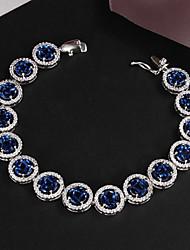 Plaqué 2,015 chaude vente de produits parti platine lien / gourmette grande brillance bracelet réel de zircon