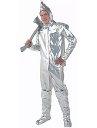 The Wizard of Oz Tin Man Cosplay Halloween Costumes For Men (Top+Pant+Sock+Hat)
