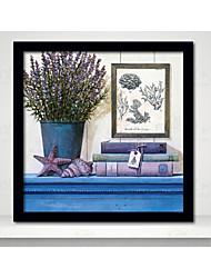 parede flores arte quadro retrato moldura de madeira com lona com vidro orgânico plástico cor aleatória 1piece / set
